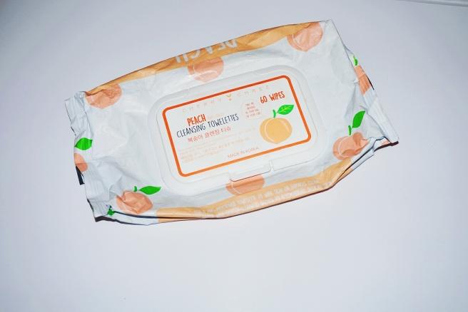 Cherri chee peach facial cleansing wipes