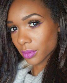 JustNadiene Purple makeup look