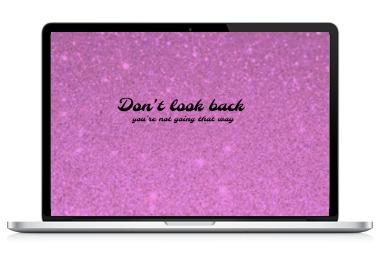 laptop art dont look back JustNadiene